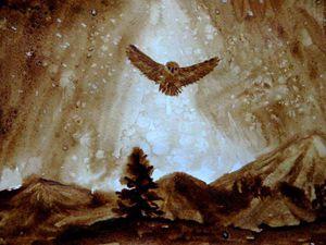 Видеоурок: как нарисовать кофейную сову с люминофором | Ярмарка Мастеров - ручная работа, handmade