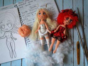 Вяжем куколку-чиби Букашку. Часть 1. Ярмарка Мастеров - ручная работа, handmade.