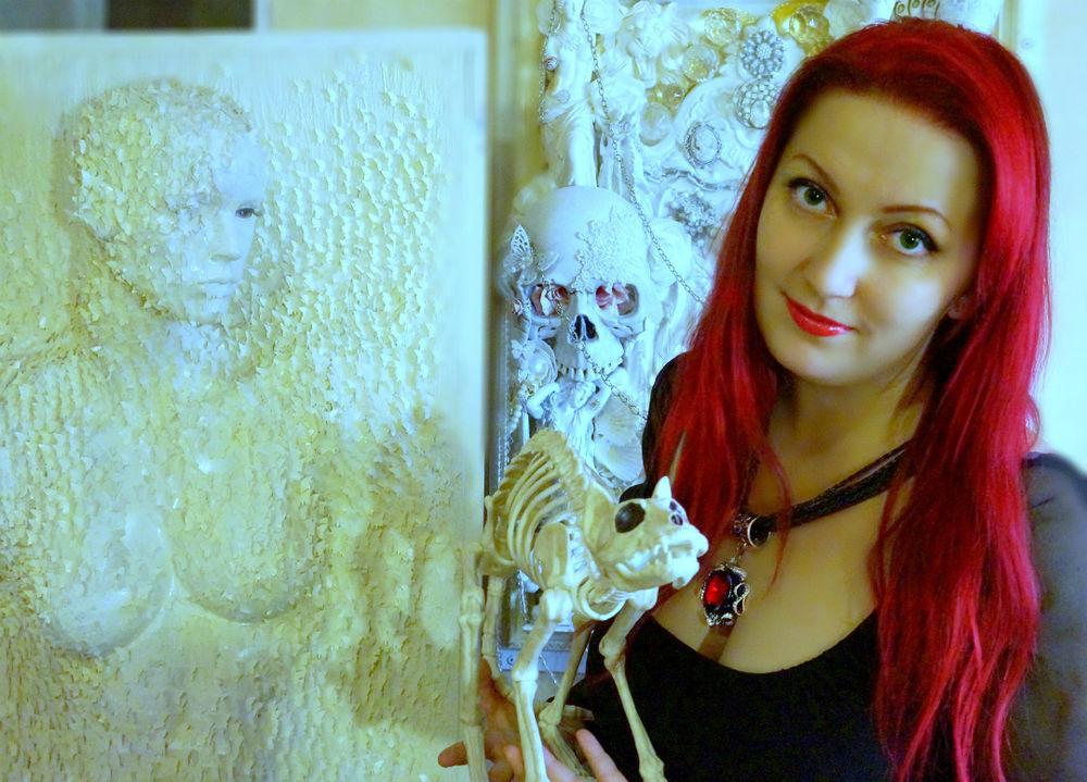 творчество, творческий процесс, мастерская художницы, коллаж, картины художницы, интернет магазин картин