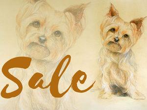 Скидка на готовые портреты собачек 50% | Ярмарка Мастеров - ручная работа, handmade
