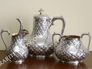 РЕДКОСТЬ! Сервиз чайник сахарница серебрение 2. Ярмарка Мастеров - ручная работа, handmade.