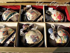 Новогодний набор грушек Старый Новый год. Ярмарка Мастеров - ручная работа, handmade.