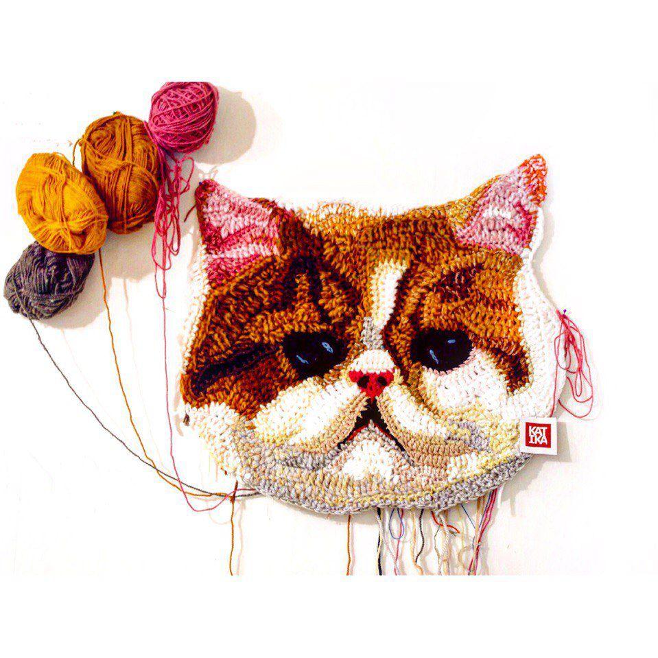 вязание, кошка, обучение вязанию, москва