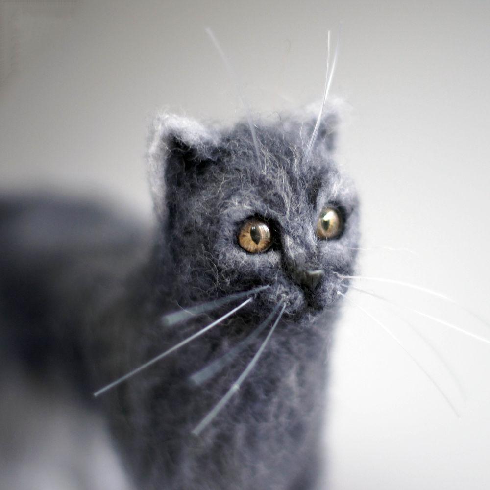 кошка валяная