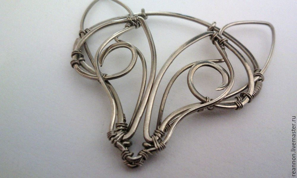 кулон лиса, украшение на шею