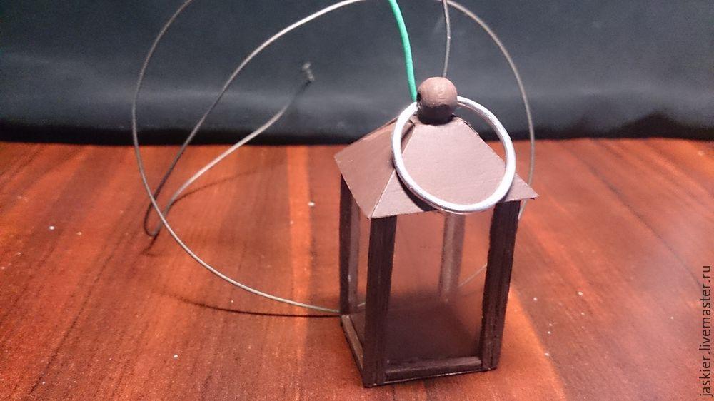 Мастерим для кукольного домика светящийся фонарь в миниатюре, фото № 12