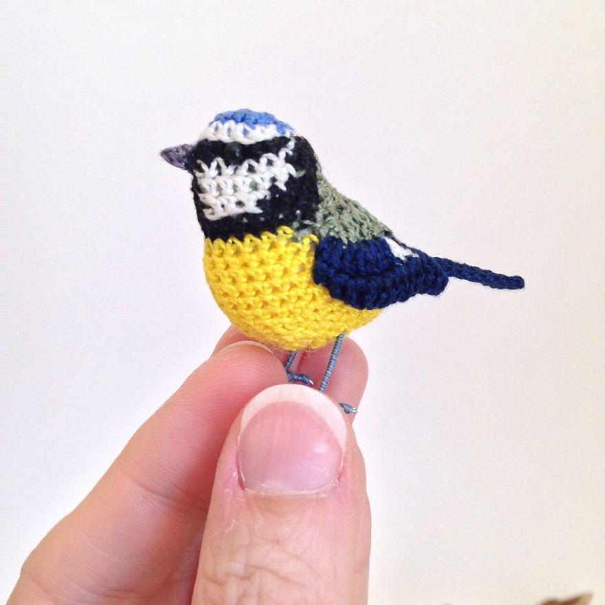 Вот-вот взлетят: реалистичные вязаные птицы Jose Heroys, фото № 20