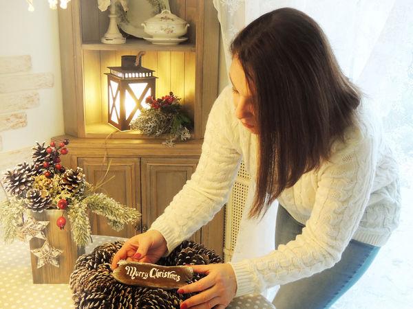 скидка на венок на дверь новогодний | Ярмарка Мастеров - ручная работа, handmade