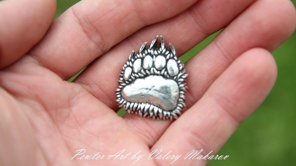 амулет лапа медведя, brooch bear paw