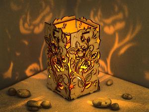 Светильники - подсвечники из натурального дерева.. Ярмарка Мастеров - ручная работа, handmade.