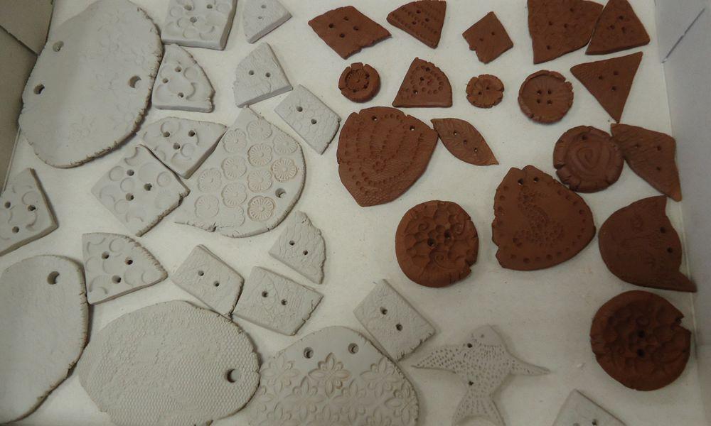керамика, пуговицы