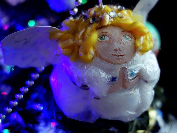 Делаем рождественского ангела для украшения ёлки | Ярмарка Мастеров - ручная работа, handmade