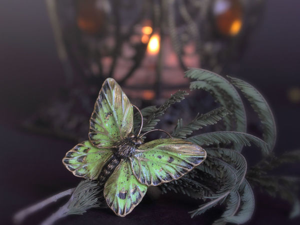 С пятнышковыми бабочками   Ярмарка Мастеров - ручная работа, handmade