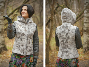 A DIY Project on Making a Felted Hooded Vest. Livemaster - handmade