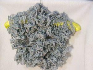 Светло-серый ажурный шарфик  улетел в УЕГ. Ярмарка Мастеров - ручная работа, handmade.