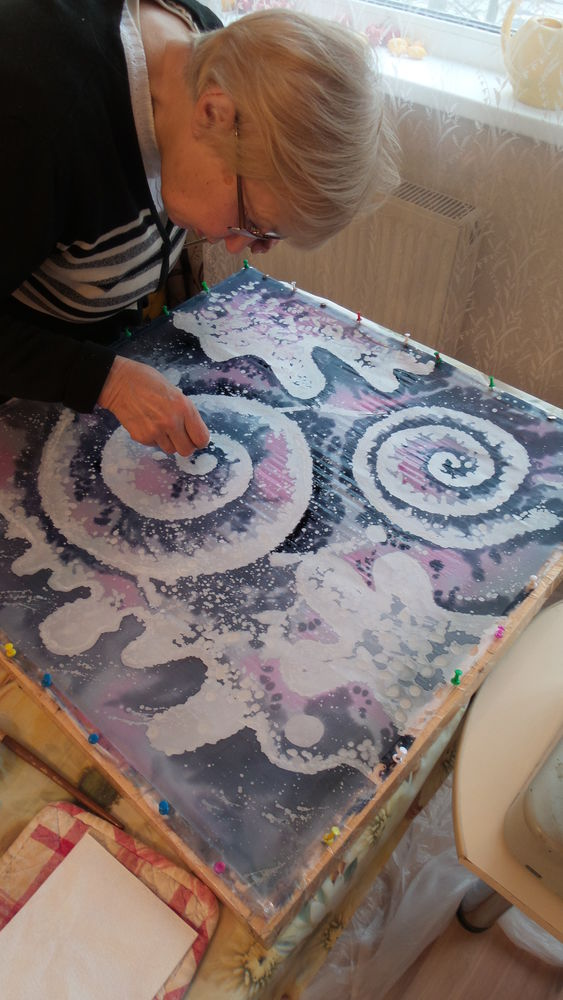 мастер-класс по батику, батик мастер-классы, свободная роспись