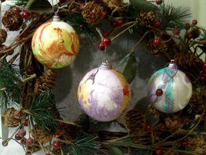 Декорируем шары на елку —  быстро и весело. Ярмарка Мастеров - ручная работа, handmade.