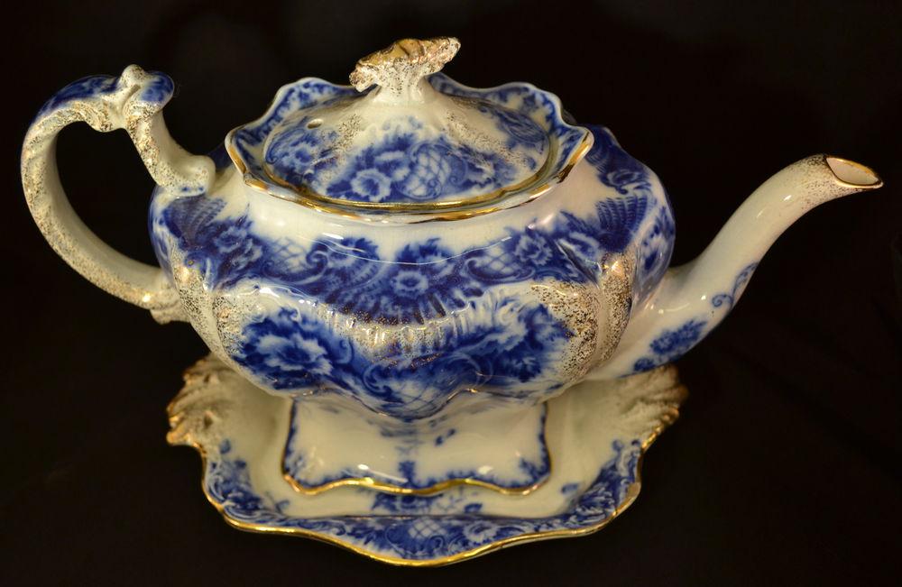 Flow blue — антикварная красота из Англии, фото № 35