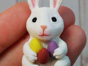 Лепим пасхального кролика из пластики. Видеоурок. Ярмарка Мастеров - ручная работа, handmade.
