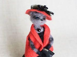 Подробный видео мастер-класс по сухому валянию из шерсти. Как сделать каркасную куклу-кошку. Ярмарка Мастеров - ручная работа, handmade.