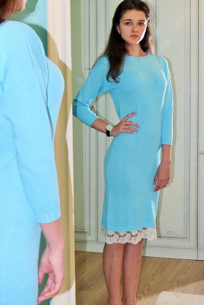 платье с кружевом, вязаные вещи, вязаная одежда, вязаное платье, ручная работа, платье, кружево