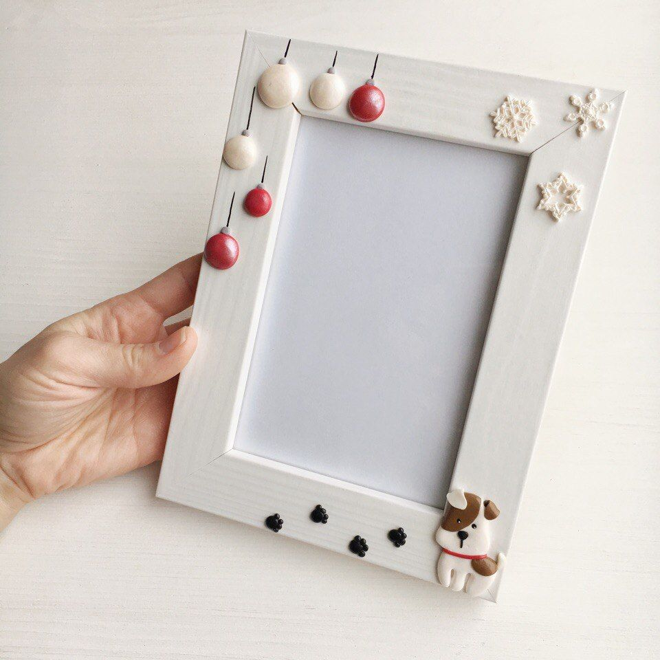 Как украсить белую рамку для фото