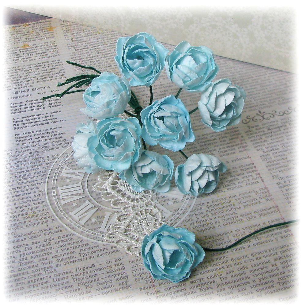 пионы, мятный пион, цветы ручной работы, цветы своими руками, декор для скрапа, цветы для открыток