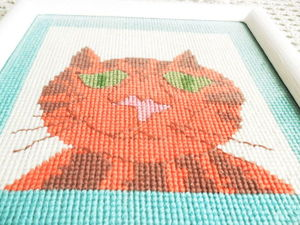 Щедрый аукцион с нуля на очень смешного кота. Ручная вышивка крестом. Ярмарка Мастеров - ручная работа, handmade.