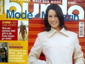 Парад моделей Burda Moden № 9/2001, Европейское издание. Ярмарка Мастеров - ручная работа, handmade.