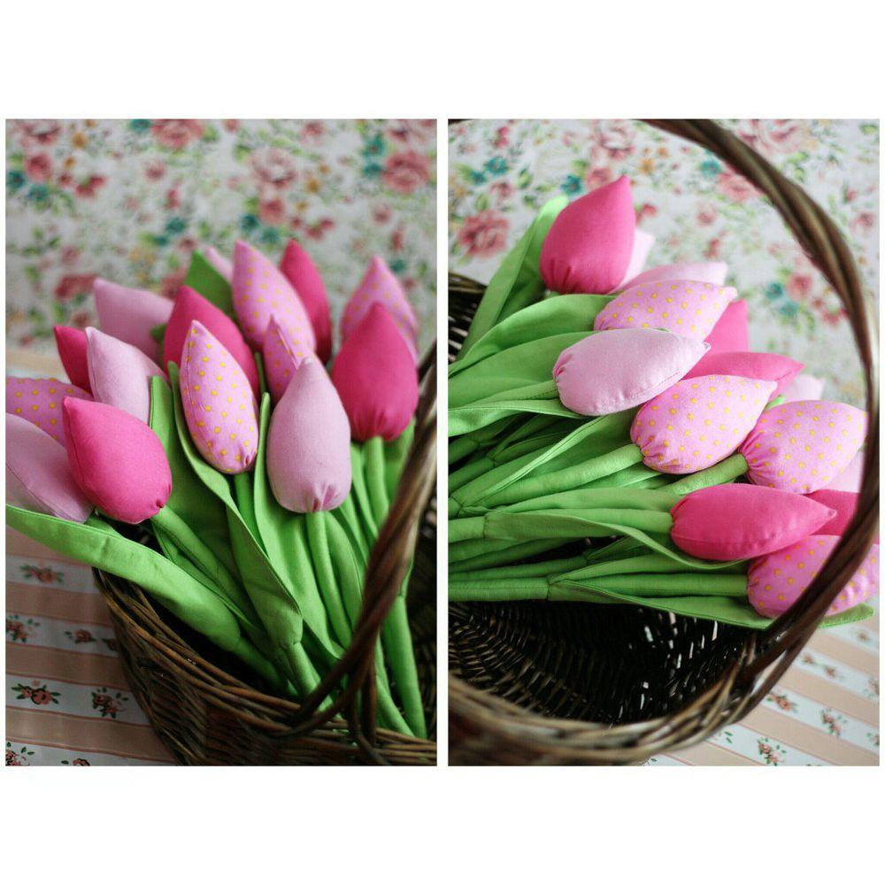 тильда, текстильный тюльпан, букет тюльпанов, красивые тюльпаны, красные тюльпаны, язык цветов