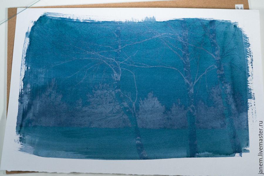 Cyanotype: Printing Photos on Watercolor Paper, фото № 9