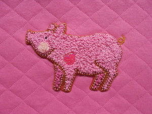 How to Embroider a Pig with French Knots. Livemaster - handmade