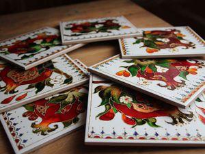 Витражная роспись керамических плиток. | Ярмарка Мастеров - ручная работа, handmade