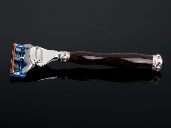 Эксклюзивный ювелирный станок для бритья ручной работы из натурального дерева