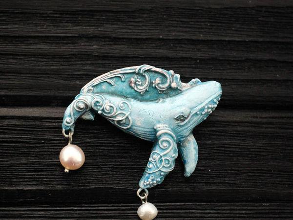 Новинка!!! Небесный кит. Кулон из полимерной глины | Ярмарка Мастеров - ручная работа, handmade