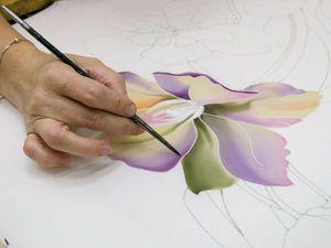 МК по росписи платка батик   Ярмарка Мастеров - ручная работа, handmade