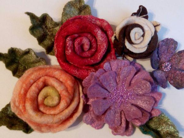 Время цветов! Резинка для волос с цветком. Мокрое валяние. | Ярмарка Мастеров - ручная работа, handmade