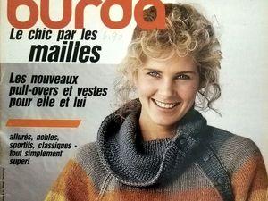 "Burda ""Le Chic Par Les Mailles"" (Вязание), № 29/1984. Фото моделей. Ярмарка Мастеров - ручная работа, handmade."