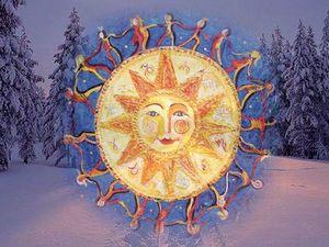 Зимнее солнцестояние. Ярмарка Мастеров - ручная работа, handmade.