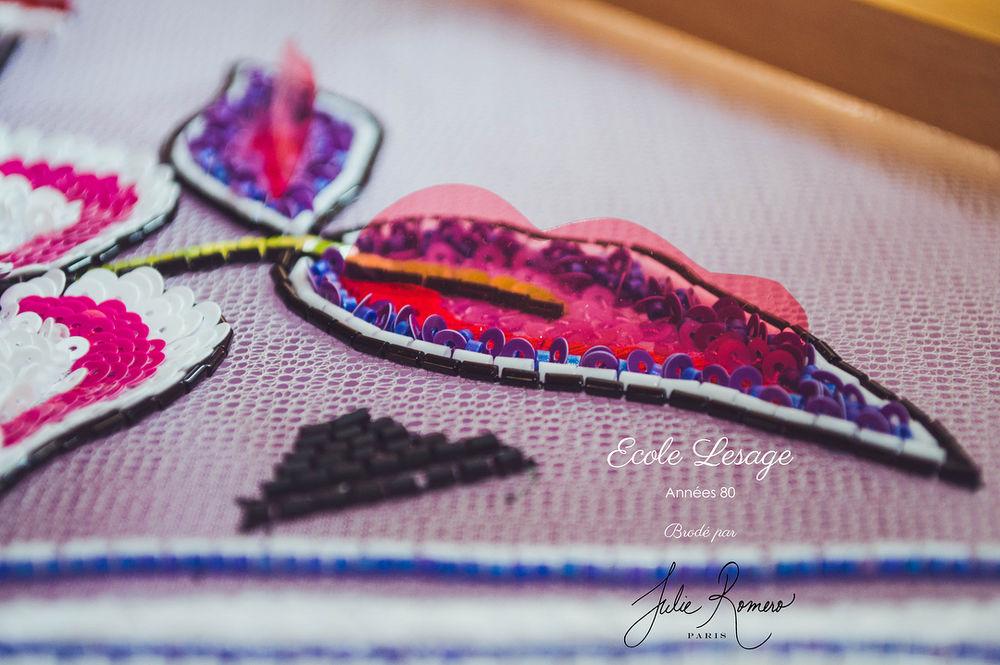 Узор №7 Annees80 для обучения люневильской вышивке в Школе Лесаж