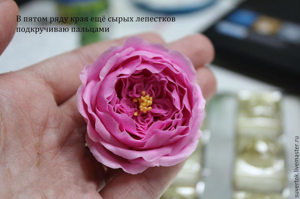 Мастер класс роза из холодного фарфора