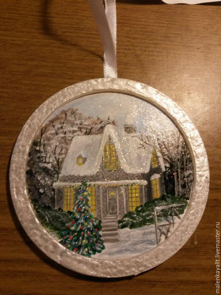 Новогодний медальон своими руками: мастер-класс, фото № 14