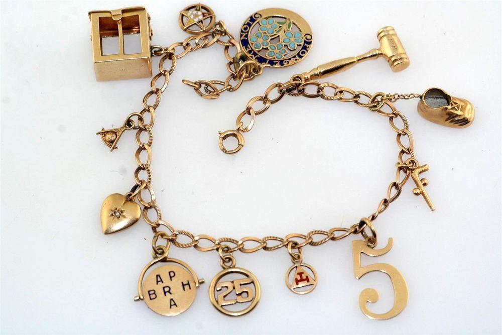 браслет, шармы, винтажные украшения