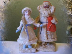 Снегурочка под ёлку: как сделать классическую ватную игрушку на каркасе | Ярмарка Мастеров - ручная работа, handmade