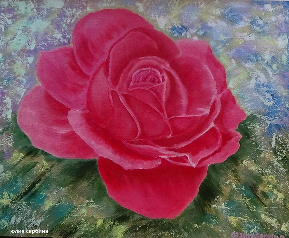 розы, картины маслом, натюрморты