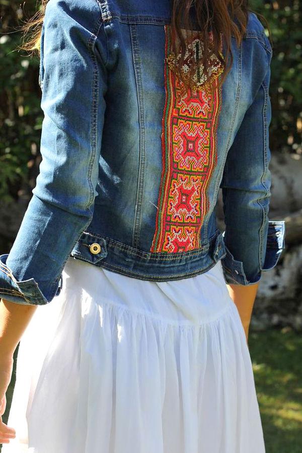 Многообразный декор джинсовых курток: 50 интересных вариантов, фото № 36