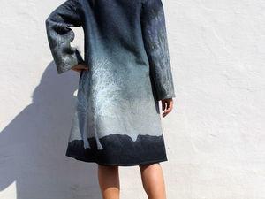 Осеннее валяное пальто !! - сейчас со скидкой 15%!!!. Ярмарка Мастеров - ручная работа, handmade.