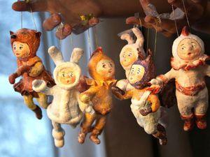 """""""Ребятки на елочку"""": мастерим ватные елочные игрушки. Ярмарка Мастеров - ручная работа, handmade."""