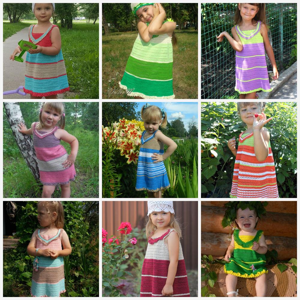 мастер-класс, комбинезон крючком, платье крючком, сарафан для девочки, вязаный сарафан, квадратная кокетка, вязаный комбинезон