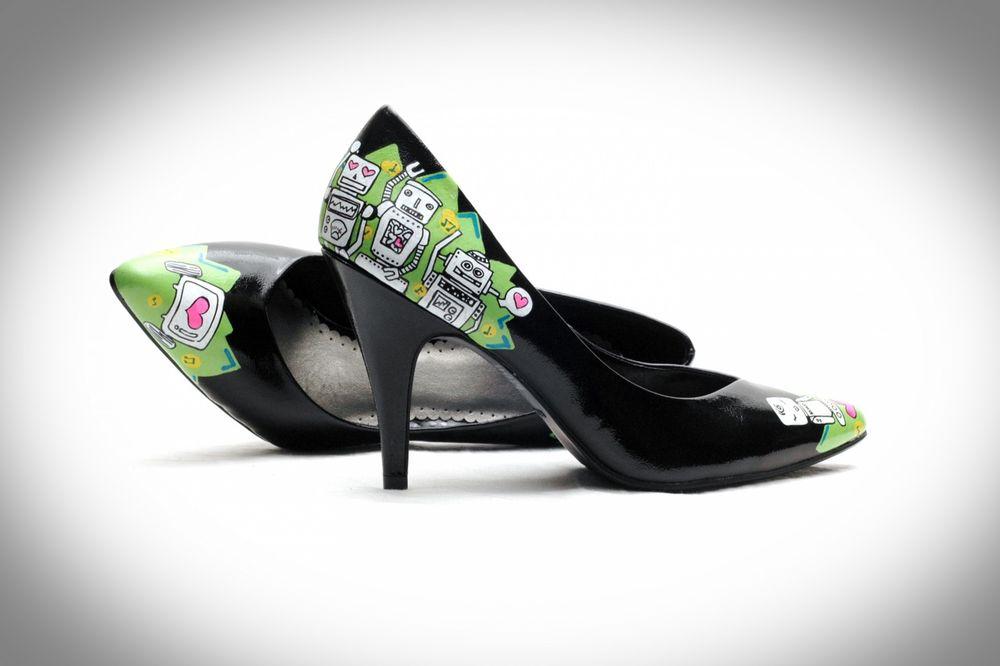 обувь с рисунком